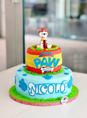 Torta di compleanno pasta di zucchero Pawpatrol